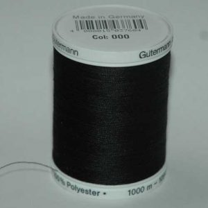 Gutermann Polyester 1000m Black