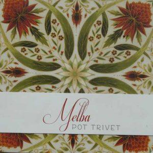 Floral Red Trivet