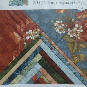 "Charm Squares 6 1/2""Blue Brown"