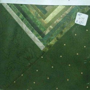 "Charm Squares 6 1/2"" Dk Green"