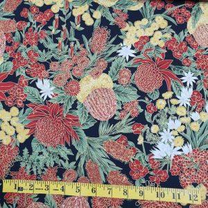 Under the Australian sun floral black