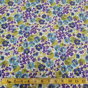 Cassandra Purple Turquoise Lime Floral