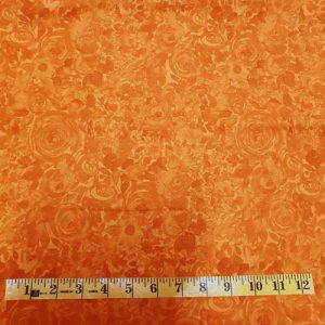Zinnia bright orange tonal
