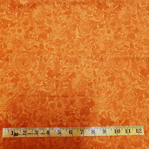 Zinnia bright orange tonal